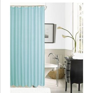 Spa 251 Waffle 72 in. Mint Shower Curtain